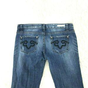 Rerock For Express Women Jeans Boot Sz 12 X 32 X15